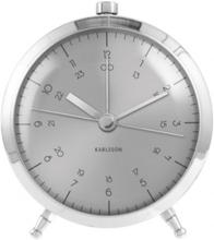 Väckarklocka - Karlsson Button Brushed Steel