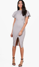 Hollie Angel Sleeve Wiggle Midi Dress