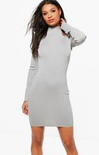 Lottie High Neck Cold Shoulder Knitted Dress