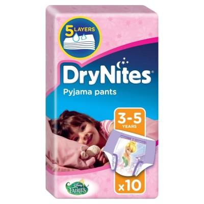 DryNites Girl Pyjama Pants 3-5 Years 10 kpl