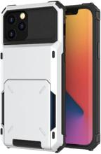 Flip Mobilskal Med Kortplatser Till Iphone 13 Pro Max - Vit