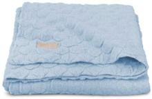 jollein Neulottu viltti Fancy Knit Baby Blue 100x150cm - harmaa