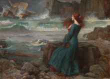 Miranda-The Tempest,John William Waterhouse,60x40cm
