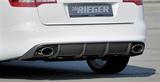 Rieger diffusor ABS plast Audi A6 4F, 2008-2011 (m