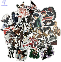 42PCS/1lot Attack on Titan Sticker Anime Icon Animal Stickers Gifts for Children to Laptop Suitcas Bicycle Car DIY PVC Stickers