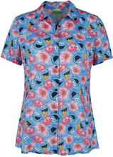 Sesam Stasjon - Monster & Flowers -Bluse - flerfarget