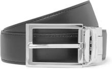 3cm Black And Tan Reversible Leather Belt - Black