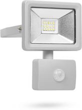 Smartwares LED sikkerhedslys med sensor 10 W grå SL1-DOB10