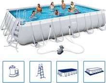 Bestway Power Steel swimmingpool med stålramme 671x366x132 cm 56470