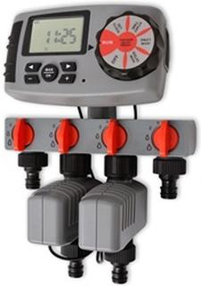 vidaXL Automatisk havevandingstimer - 4 stationer, 3V