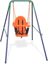 vidaXL Barngunga set med säkerhetsbälte orange