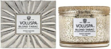 Voluspa Blonde Tabac Glass Candle 45 tim