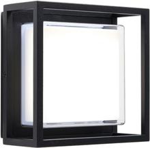 Arlow væglampe 20 x 20 cm 1 x SMD LED 10,8W - Sort