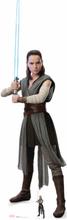 Star Wars: Die letzten Jedi überdimensionale Pappfigur von Rey mit Laserschwert