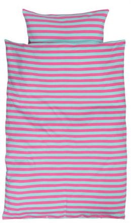 Økologisk Baby sengetøj - Freds World - 70x100 cm - Pige strib - Home-tex