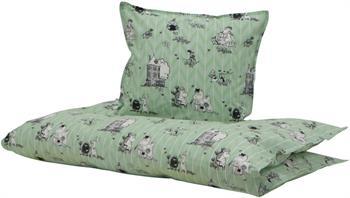 Baby Sengetøj - Mumitroldene grøn - 70x100 cm - 100% Økologisk bomuld - Home-tex