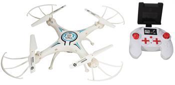 Fjernstyrt drone med WiFi - 35 cm i diameter - Hvit