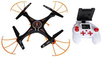 Fjernstyrt drone med WiFi - 35 cm i diameter - Svart