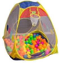 Boldbassin Inklusiv 100 bolde - 4 kantet aktivitets hus med 2 indgange