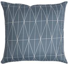 Pudebetræk - 100% Bomuldssatin - Graphic mørk blå - 60x63 cm