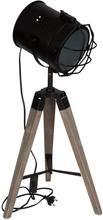 Projektør lampe på 3 egetræsben ben - 66 cm høj