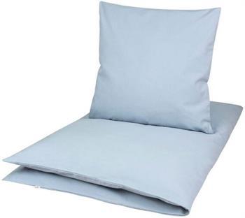 Økologisk baby sengetøj - 70x100 cm - Müsli Solid blå - Home-tex