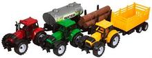 Traktorer med redskaber - Pakke med 3 stk