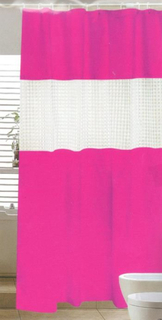 Badeforhæng - Pink - 180x180 cm.
