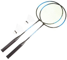 Badmintonsæt 2 ketcher - 62 cm i længden - og 2 bolde
