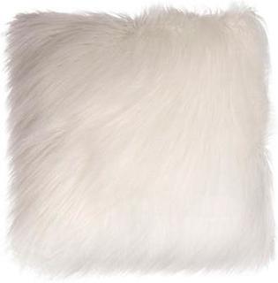 Pyntepute - Imiteret pels og skinn- Hvit - Borg Living