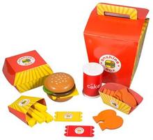 Tremat - fastfood meal - Pommes frites og burger