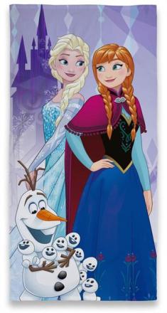 Badehåndklæde - Frozen - 70x140cm - God vamset kvalitet - Home-tex