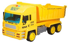Legetøjs lastbil - 38 cm lang - lastbil med tippelad