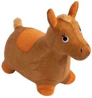 Hoppehest - Hest i brun velour