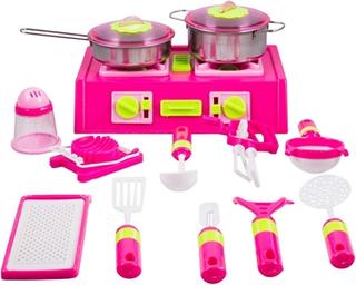 Madlavnings sæt - Med komfur og køkkenredskaber -13 dele