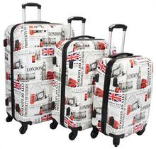 Kuffertsæt - med 3 stk. London - Hard case letvægtskufferter