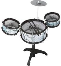 Trommesæt - sort - Med 3 Trommer og Hi - hat