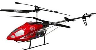 Fjernstyret helikopter - 90 cm lang - Rød