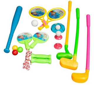 Leketøy 5 forskjellige spill og leker i en samlet pakke - 20 deler i alt