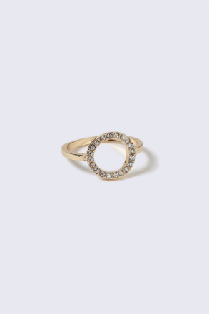 Gold Look Equestrian Circle Ring