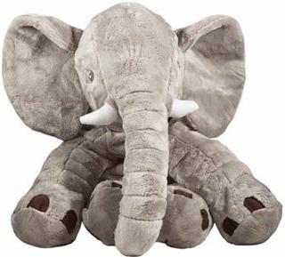 Elefant tøjdyr 60 cm i høj - Slaske bamse - Grå