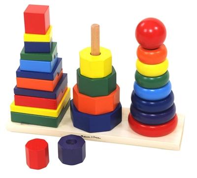 Geometrisk Pyramide tårne - Melissa & Dougs - 25 dele - i trælegetøj - Home-tex