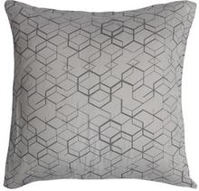 Pudebetræk - 100% Bomuldssatin - Geometric grå - 60x63 cm