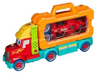 Legetøjs Lastbil - Konstruktions legetøjs lastbil - Med Lyd