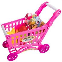 Legetøjs indkøbsvogn - Med mange forskellige varer -