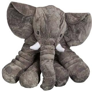 Stor Elefant tøjdyr 80 cm i høj - Slaske bamse - Grå