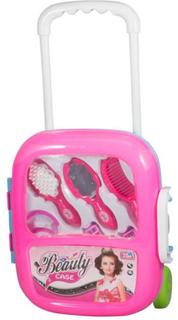 Frisør legetøjs sæt med trolley. Så barnet let kan gå til næste frisør opgave