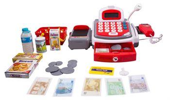 Legetøjs kasseapparat - Med scanner - Og mikrofon