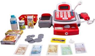 Legetøjs kasseapparat - Med scanner og mikrofon