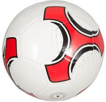 Læder Fodbold - Hvid - Diameter 21 cm